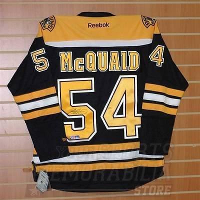Adam McQuaid Boston Bruins Signed Autographed Reebok Bruins Home Jersey