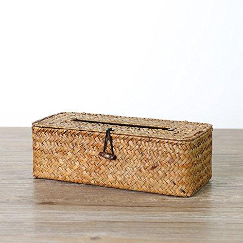 (Facial Tissue Box Cover/Holder Paper Towel Box Car Restroom Napkin Box,Orange)