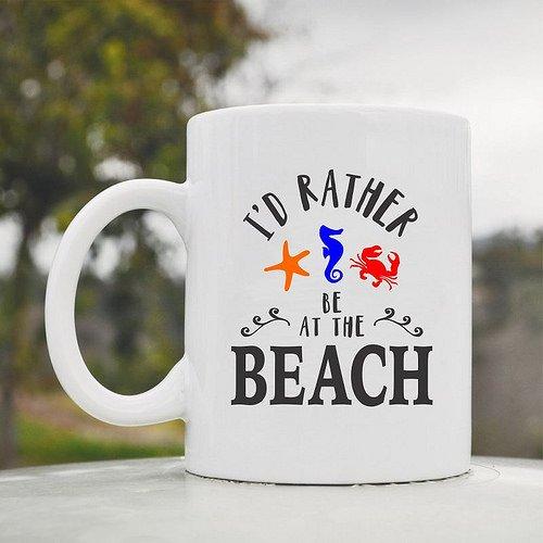 交換無料! I Be ' d Rather Be At theビーチタツノオトシゴキュートファニー11ozセラミックコーヒーマグカップ I d B06XNSDB2D, カミシヒムラ:17a23de2 --- movellplanejado.com.br