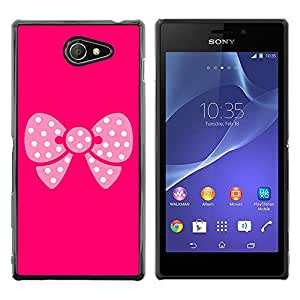 Exotic-Star ( Pink Butterfly Pattern ) Fundas Cover Cubre Hard Case Cover para Sony Xperia M2 / Xperia M2 Aqua / Sony Xperia M2 Dual