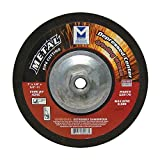 Mercer Industries 620170 Type 27 Depressed Center Cutting and Light Grinding Wheel, 7'' x 1/8'' x 5/8''-11 for Ferrous Metals, A24S, Single Grit, 10 -Pack