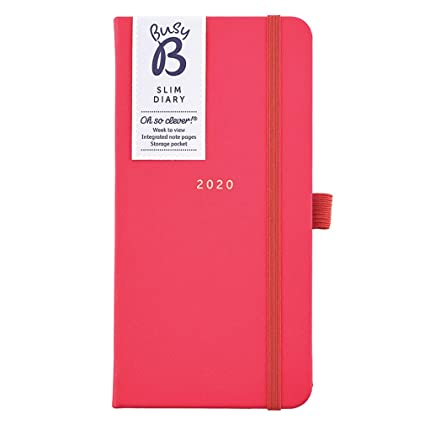 Slim Diary 2020 Busy B - en piel sintética roja, vista ...