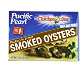 Pacific Pearl Smoked Oysters in Spring Water, 3.75 oz