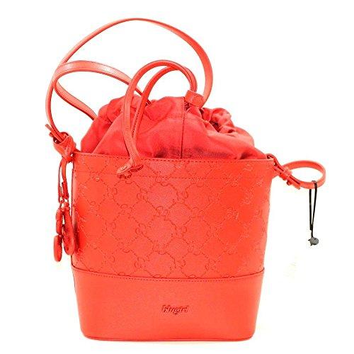 Blugirl Bolso de asas de cuero sintético para mujer Rojo rojo 19x11x27cm