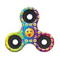 Tri Fidget Hand Spinner, Ultra Fast Bearings, Finger Toy, Great Gift (Emoji)