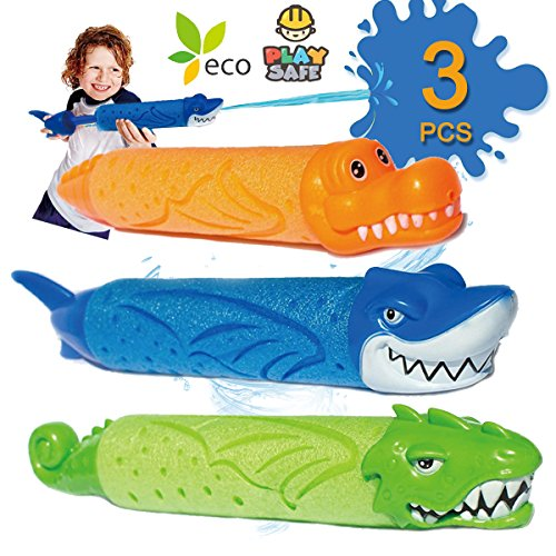 Water Guns for Kids 3 Pack Kids Pump Foam Super Soaker Water Blaster Shooter Summer Beach Toys Outdoor Swimming Pool Games Toys Boys and Girls Adults