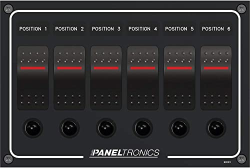 Paneltronics Waterproof Panel – DC 6-Position Illuminated Rocker Switch Circui