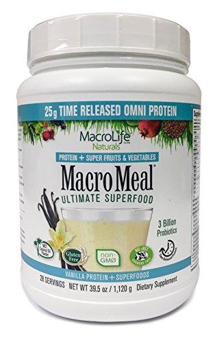 Macro Life Naturals Meal Omni Vanilla, Net wt. 39.5 oz.