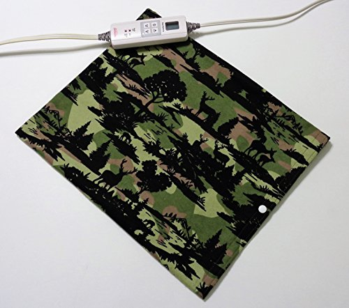 "Replacement Cover for 12"" x 15"" Heating Pad ~ Heating Pad Cover ~ Cover Only ~ Camo Wilderness Scene by Practical Things I Love"