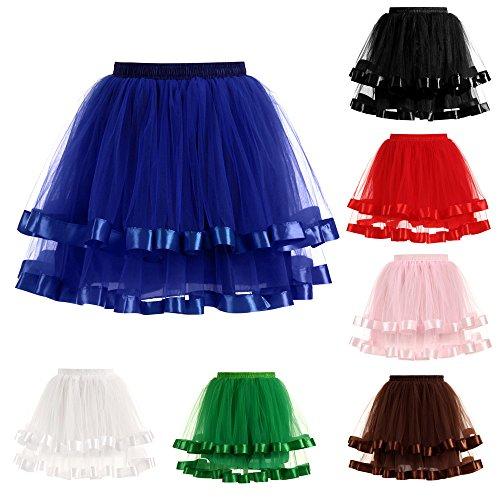 Nero Lmmet Mini Bluea Sottoveste Skirt Gonne Abito Vestito Gonna Retro Danza 50s Donna Da Sottogonne Elegante 50 Vintage Tutu Midi Rockabilly Sottogonna Anni Petticoat Pantalone wqrFwAp7n