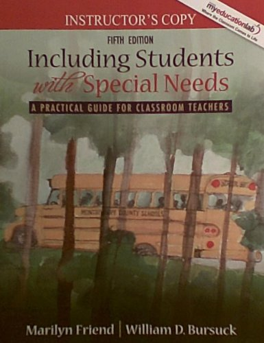 Including Students with Special Needs 5th Edition Instructors Copy