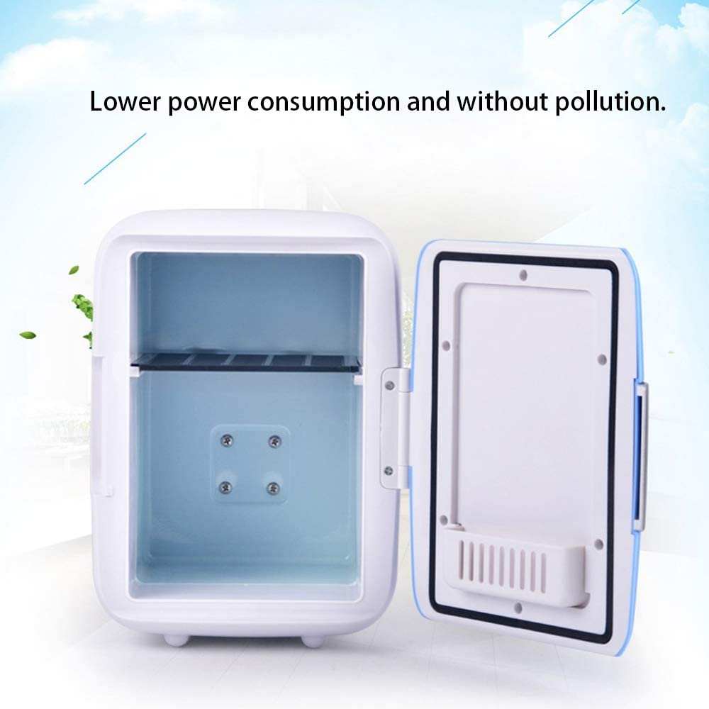 Sangmei Cool Box Dual Voltage Car Refrigerator DC 12V Portable Car Cool and Warm Electric Coolbox for Traveling and Camping 4L Outdoor