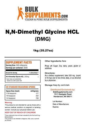 BulkSupplements N,N-Dimethyl Glycine HCL (DMG) Powder (1 Kilogram)