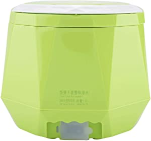 Electric Rice Cooker for Truck,24V 140W 1.6 L Electric Portable Multifunctional Rice Cooker Food Steamer for Home Truck(green)
