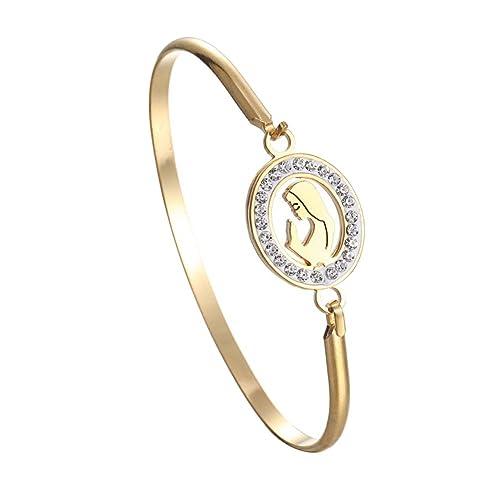 Fengteng Kristall Damen Armschmuck, Heilige Jungfrau Maria Armband ...