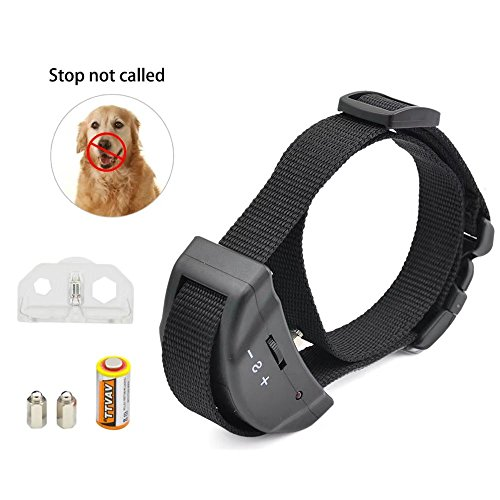 JahyShow No Bark Shock Dog Collar with 7 Sensitivity Levels£­No Harm, No Pain Vibration, Adjustable Buckles for Small, Medium & Large Dogs£­Prevent Barking, Ensure Good Behavior & Facilitate Training