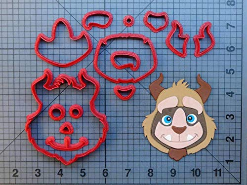 (1 Set Beauty and the Beast Cookie Cutter Set Custom Made 3D Printed Fondant Cupcake Cake Decorating Tools Kitchen Accessories)