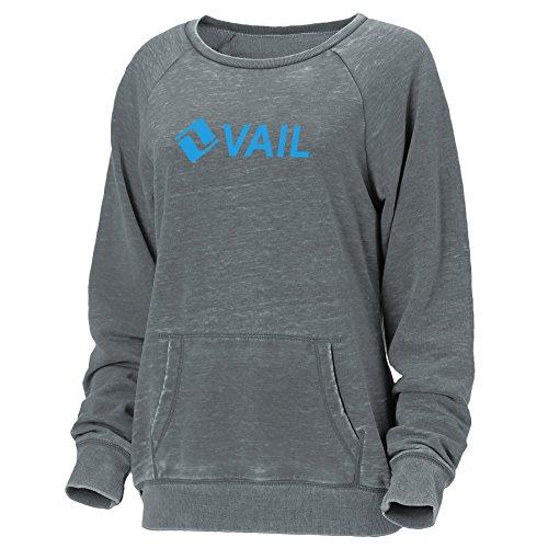 Ouray Sportswear Women's Vail Resort Crush Ls Redux Sweater, Dark Grey Crush, Medium