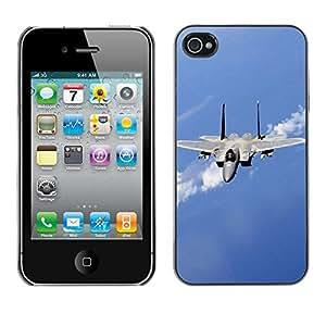 Paccase / SLIM PC / Aliminium Casa Carcasa Funda Case Cover - Nature Fighter Jet - Apple Iphone 4 / 4S