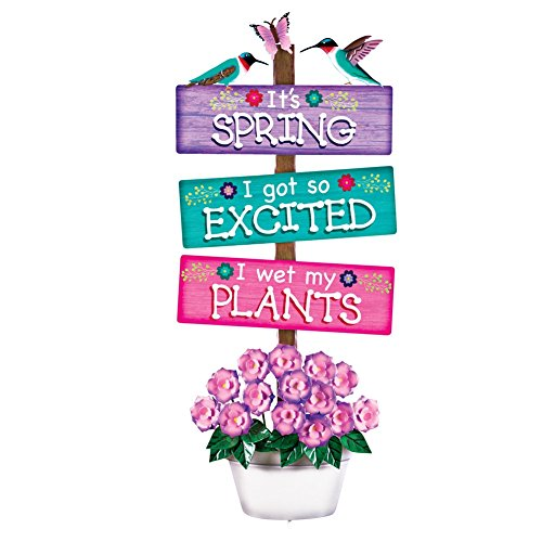 Novelty Springtime Garden Decor Multi Colored