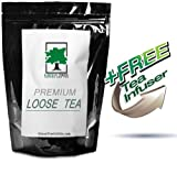 Green Sencha Decaf CO2 Loose Green Tea - 4 oz (with FREE 1.5'' Mesh Tea Infuser)
