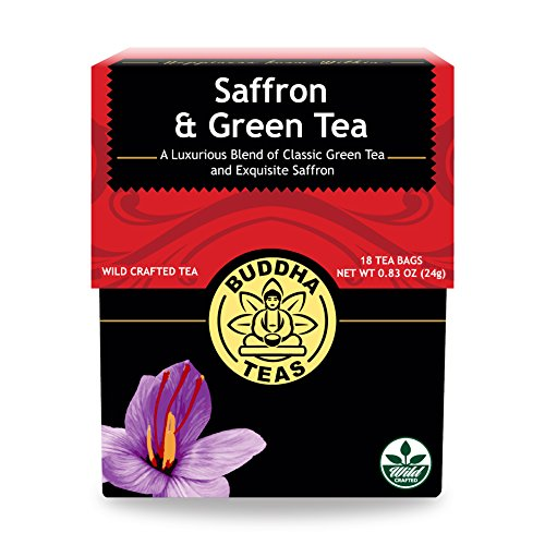 Buddha Teas Saffron & Green Tea, 18 Count - Saffron Tea