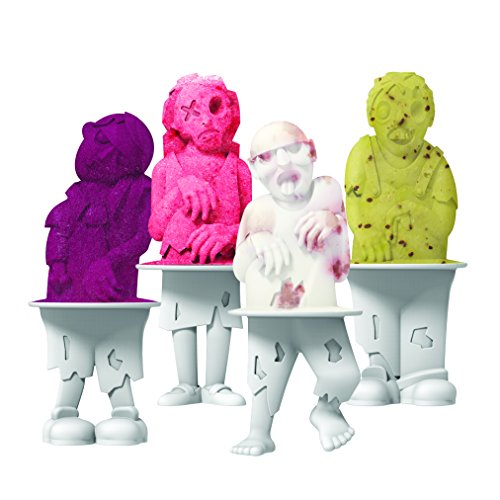 - Tovolo Zombies Pop Molds, Flexible Silicone, Easily-Removable, Dishwasher Safe