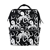 WOZO White Octopus Multi-function Diaper Bags Backpack Travel Bag