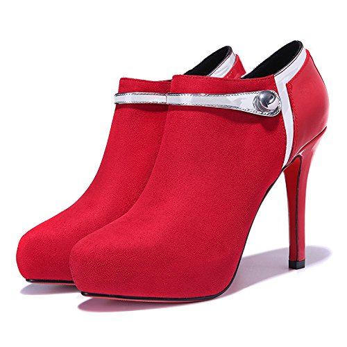 KHSKX-Sexy High Heels Hochzeit Schuhe Mode - Mädchen Und Rot Glasierte  Kurze Läufe 38: Amazon.de: Sport & Freizeit