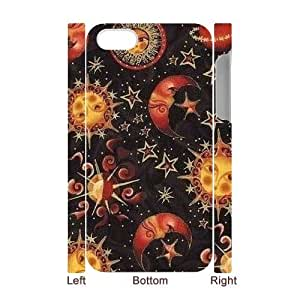 Sun Moon Pattern Customized 3D Cover Case for Iphone 4,4S,custom phone case ygtg544006