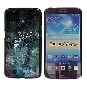 Be Good Phone Accessory // Dura Cáscara cubierta Protectora Caso Carcasa Funda de Protección para Samsung Galaxy Mega 6.3 I9200 SGH-i527 // Modern Art Color Splash Watercolor