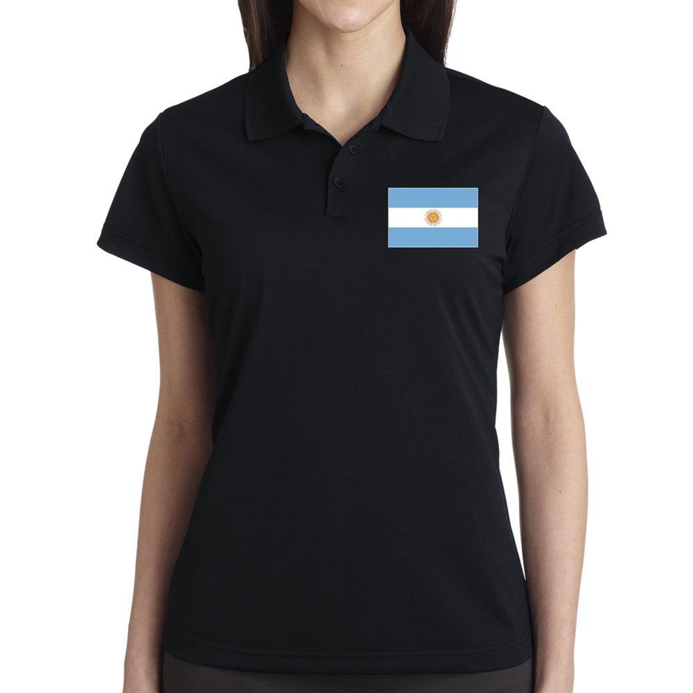 De las mujeres de la bandera argentina Polo negro small: Amazon.es ...