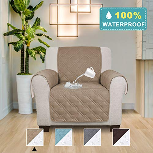 - 100% Waterproof Sofa Cover for Pets Couch Covers for Living Room Premium Furniture Leather Sofa Protector Features Protect from Pets Wear and Tear (Seat Width: 30