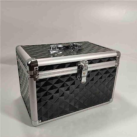 OYHBGK Caja de maquillaje de aluminio de mariposa Caja de organizador cosmética de joyería de viaje portátil con espejo Belleza Vanidad Cepillo Bolsa de almacenamiento: Amazon.es: Belleza