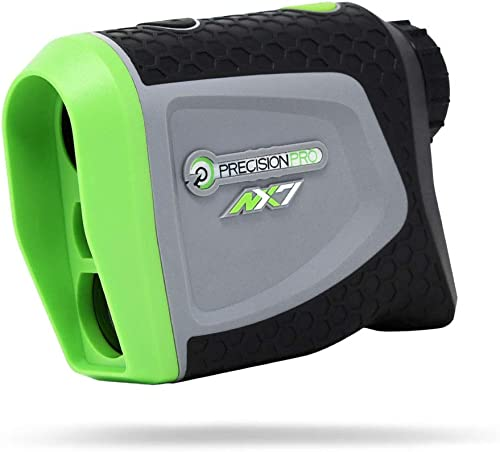 Precision Pro Golf, NX7 Golf Rangefinder, Laser Range Finder with Pulse Vibration, 400 Yard Range, 6X Magnification, Flack Lock, Battery Replacement