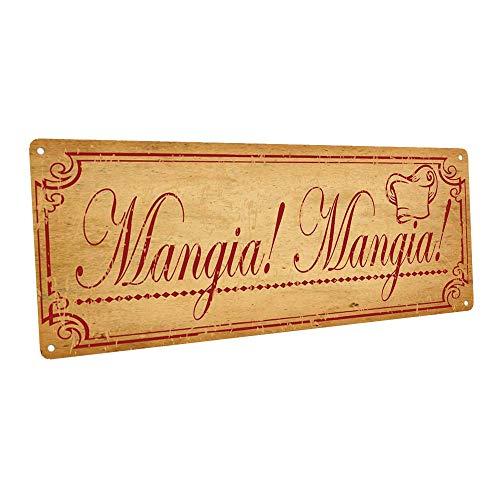 Mangia, Mangia Metal Sign, Italian, Country Decor, Kitchen Decor (Italian Decor Kitchen)