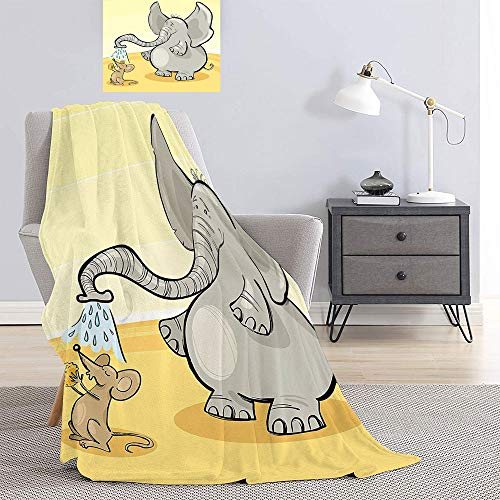 Cheap SATVSHOP Light Thermal Blanket Soft Blanket-Full Queen Blanket Breathable Cozy.Elephant Nursery Young Wild Animals Pattern for Children Elephant Calv Baby Blue Coral. Black Friday & Cyber Monday 2019