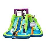 Triple Blast Kids Outdoor Inflatable Splash Pool Backyard Water Slide With Ebook