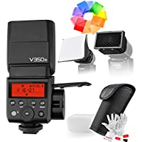 Godox V350S for Sony, 2.4G GN36 TTL 1/8000s HSS Camera Flash 500 Full Power Flashs 22 Steps of Power Outpout(1/1-1/128) for Sony A7RIII A7RII A7R A58 A99 ILCE6000L A77II RX10 A9