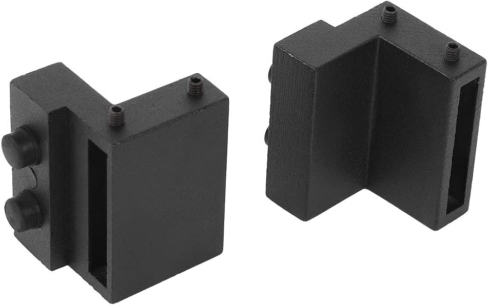 Wakects 6.6FT 200cm Binario per Porta Scorrevole Kit Porta Scorrevole Kit Accessori con Guida a Pavimento Regolabile Scorrevole per Una Porta Scorrevoli di Legno Stile Rustico
