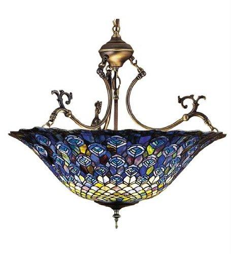 Meyda Tiffany 38159 Pendant, Mahogany Bronze Finish with Stained