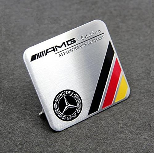 Insignia Emblema AMG Edition Germania Affalterbach Mercedes-Benz Metallico, 60 x 55 mm Generic