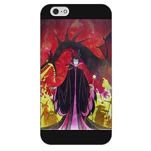 "Customized Black Hard Plastic Disney Cartoon sleeping beauty iPhone 6 Plus Case, Only fit iPhone 6+ 5.5"""