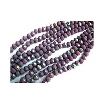 097bbfb431a31 70+ Lilac Czech Crystal Opaque Glass 6x8mm AB Faceted Rondelle Beads ...