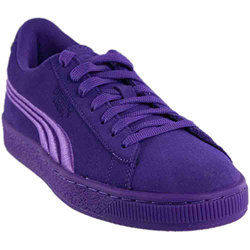 PUMA Girls' Suede Classic Badge Jr Sneaker, Electric Purple, 7 M US Big Kid