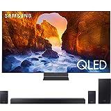 "Samsung QN82Q90RA 82"" Q90 QLED Smart 4K UHD TV (2019 Model) Bundle with HWQ90R 510W 7.1.4-Channel Soundbar w/Wireless Subwoofer"