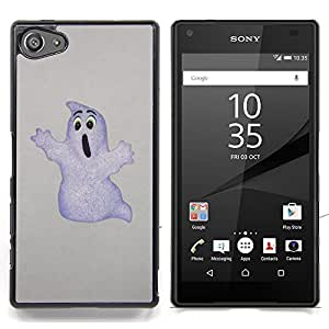 Jordan Colourful Shop - Ghost White Drawing Art Childrens Movie Cartoon For Sony Xperia Z5 compact / mini - < Personalizado negro cubierta de la caja de pl??stico > -