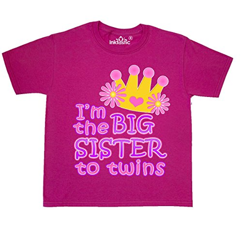 Inktastic - I'm the big sister to Youth T-Shirt Youth X-Small (2-4) Cyber (Big Sister Twins)