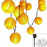 Solar LED Lanterns String Lights, ALED LIGHT 18.1Ft 5.5M 30 LED Waterproof Outdoor Decorative Stringed LED String Lights Lanterns for Party,Christmas,Garden,Patio,Halloween, Decoration (30LED-18.1ft)