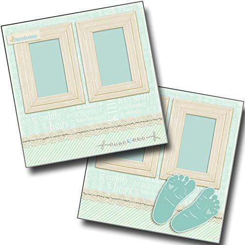 Footprints Boy - Baby - Premade Scrapbook Pages - EZ Layout 4044